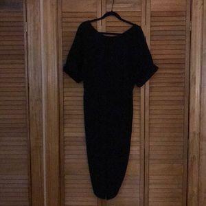 ASOS Wriggle Midi Dress, Black